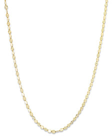 "Giani Bernini 18K Gold over Sterling Silver Necklace, 20"" Diamond-Cut Chain"