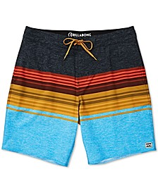Big Boys Spinner Striped Colorblocked Swim Trunks