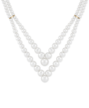 Honora Cultured Freshwater Pearl (3 - 9mm) Layered V 17-1/2