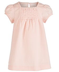 Baby Girls Cotton Smocked Corduroy A-Line Dress, Created for Macy's