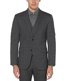 Men's Slim-Fit Stretch Plaid Suit Jacket