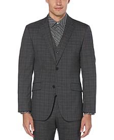 Men's Slim-Fit Stretch Plaid Suit Jacket