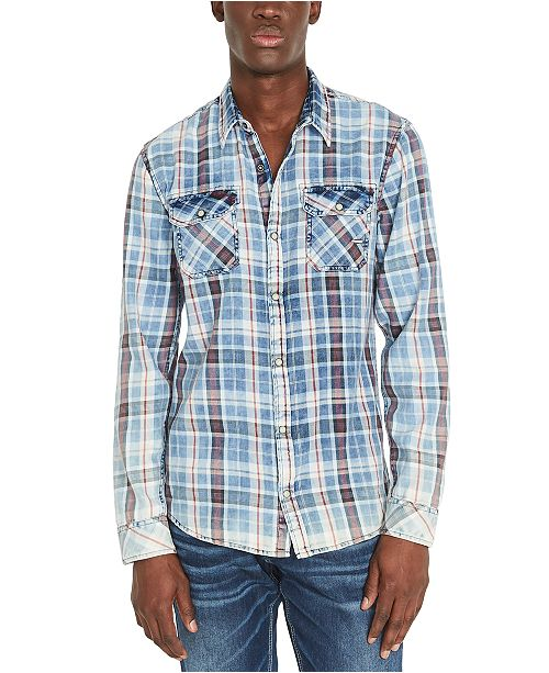 Buffalo David Bitton Men's Sabil Regular-Fit Plaid Shirt
