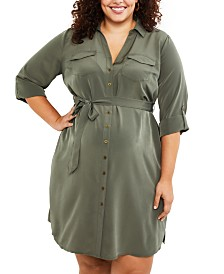Motherhood Maternity Plus Size Shirtdress