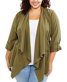 Plus Size Draped Nursing Top