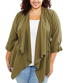 Motherhood Maternity Plus Size Draped Nursing Top
