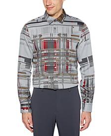 Men's Regular-Fit Broken Plaid Tweed Shirt