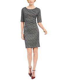 Petite Starburst Sheath Dress