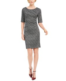 Connected Petite Starburst Sheath Dress
