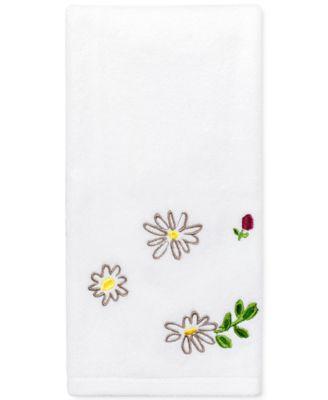 "Dahlias Cotton 11"" x 18"" Fingertip Towel"