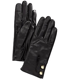 Michael Michael Kors Leather Two-Button Gloves