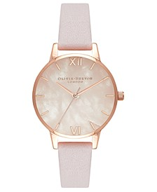 Women's Blossom Leather Strap Watch 30mm