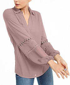 INC Studded Woven Top, Created for Macy's
