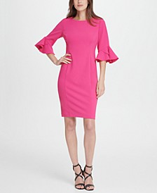 3/4 Triple Ruffle Sleeve Dress