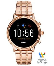 Tech Gen 5 Julianna HR Rose Gold Bracelet Smart Watch 44mm, Powered by Wear OS by Google
