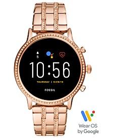 Fossil Tech Gen 5 Julianna HR Rose Gold Bracelet Smart Watch 44mm