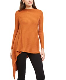 Alfani Ribbed Asymmetrical Sweater, Created For Macy's