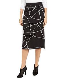 Alfani Printed Sweater Skirt, Created For Macy's