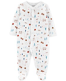 Baby Boys 1-Pc. Cotton Footed Printed Sleep and Play