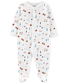 Carter's Baby Boys 1-Pc. Cotton Footed Printed Sleep and Play