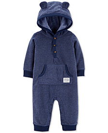 Carter's Baby Boys Hooded Fleece Bear Coverall