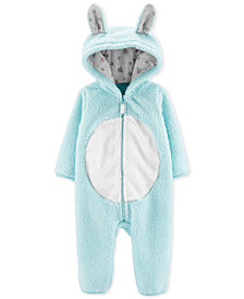 Carter's Baby Girls Hooded Sherpa Bunny Coverall