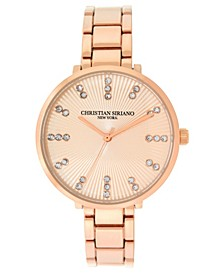 Christian Siriano Women's Analog Rosegold-Tone Stainless Steel Add-A-Link Watch 38mm