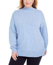 Karen Scott Plus Size Mock-Neck Sweater, Created for Macy's
