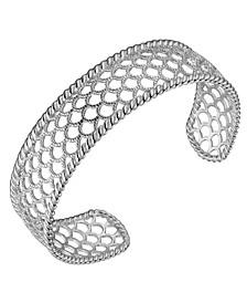 Sterling Silver Filigree Net Design Cuff Bracelet