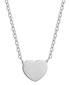 Heart Design Necklace in Sterling Silver