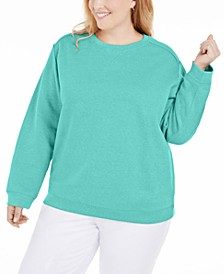 Plus Size Crewneck Fleece Sweatshirt, Created for Macy's