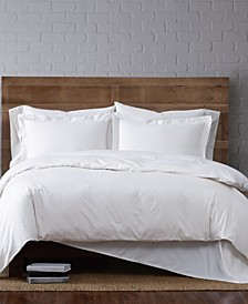 Solid Cotton Percale King 3-Pc. Duvet Set