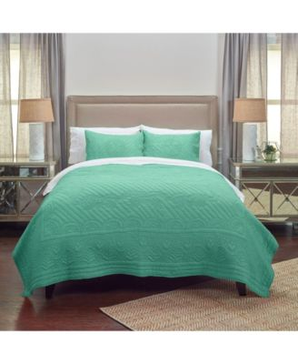 Rizzy Home Quilt in Aqua Twin