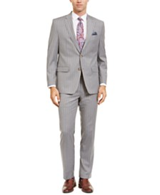 Lauren Ralph Lauren Men's Classic-Fit UltraFlex Stretch Light Gray Stripe Suit Separates