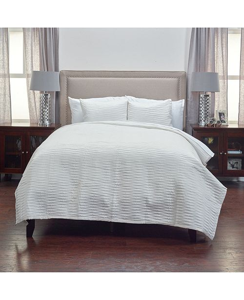 Rizzy Home Riztex USA Parker King 3 Piece Quilt Set