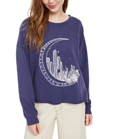 Pretty Rebellious Juniors' Moon Graphic-Print Sweatshirt