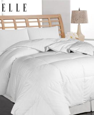 ELLE DÉCOR - Microfiber Pinstripe Down Fiber Comforter , King