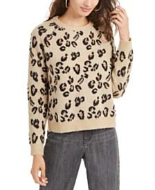 Planet Gold Juniors' Animal-Print Sweater