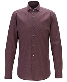 BOSS Men's Jason Slim-Fit Motif-Print Shirt