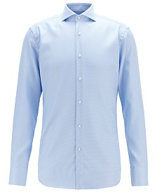 BOSS Men's Slim-Fit Crease-Resistant Cotton Shirt