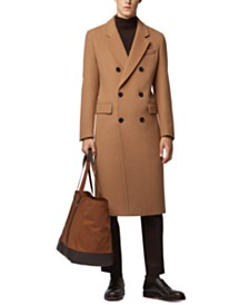 BOSS Men's Darvin5 Slim-Fit Double-Breasted Long Coat