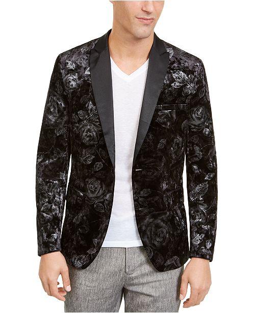 Inc International Concepts Inc Men S Foil Printed Velvet Blazer Created For Macy S Reviews Blazers Sport Coats Men Macy S