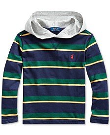 Little Boys Jersey Stripe Hooded T-Shirt