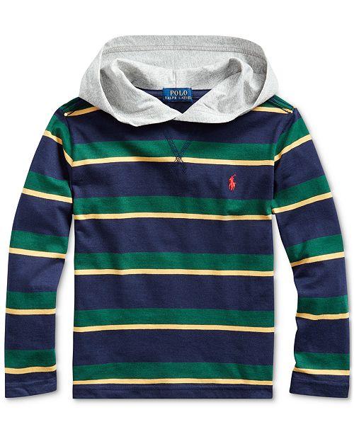 Polo Ralph Lauren Toddler Boys Hooded Jersey T-Shirt