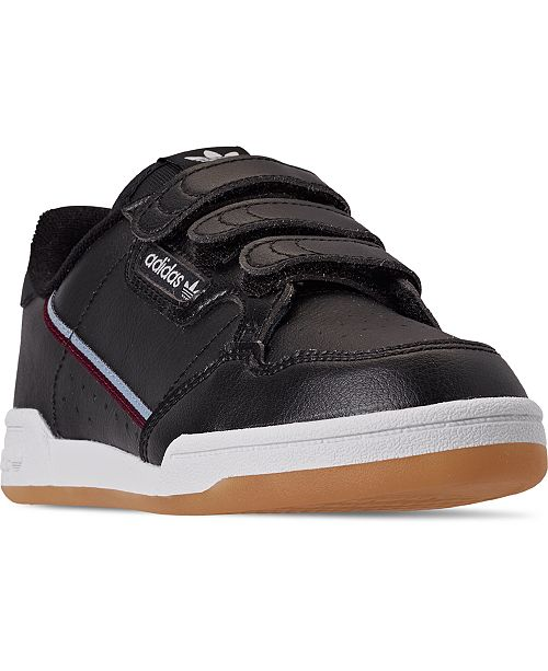 adidas Little Boys Originals Continental 80 CF Stay-Put Closure Casual Sneakers from Finish Line