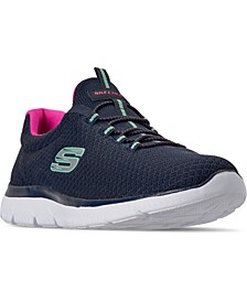 Women's Summits Wide Width Walking Sneakers from Finish Line