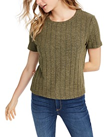 Juniors' Cozy Ribbed Top