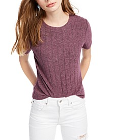 Crave Fame Juniors' Cozy Ribbed Top