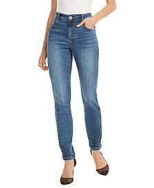 INC Rhinestone Skinny Ankle Jeans, Created for Macy's