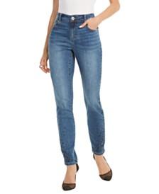 I.N.C. Petite Cascade Rhinestone Ankle Skinny Jeans, Created For Macy's